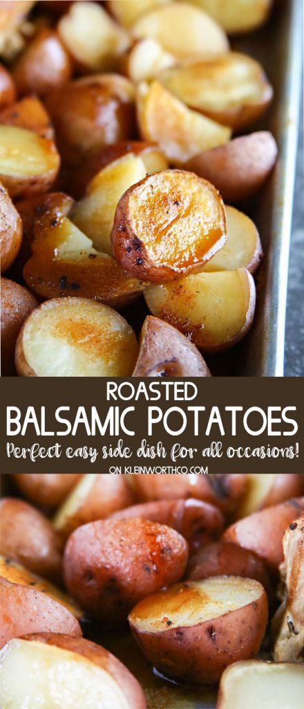 Easy Roasted Balsamic Potatoes