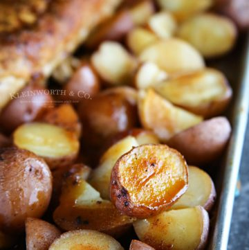 Recipe for Easy Roasted Balsamic Potatoes
