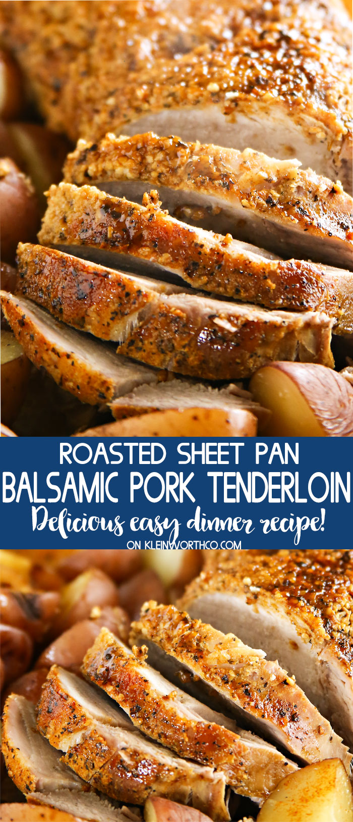 Roasted Sheet Pan Balsamic Pork Tenderloin recipe