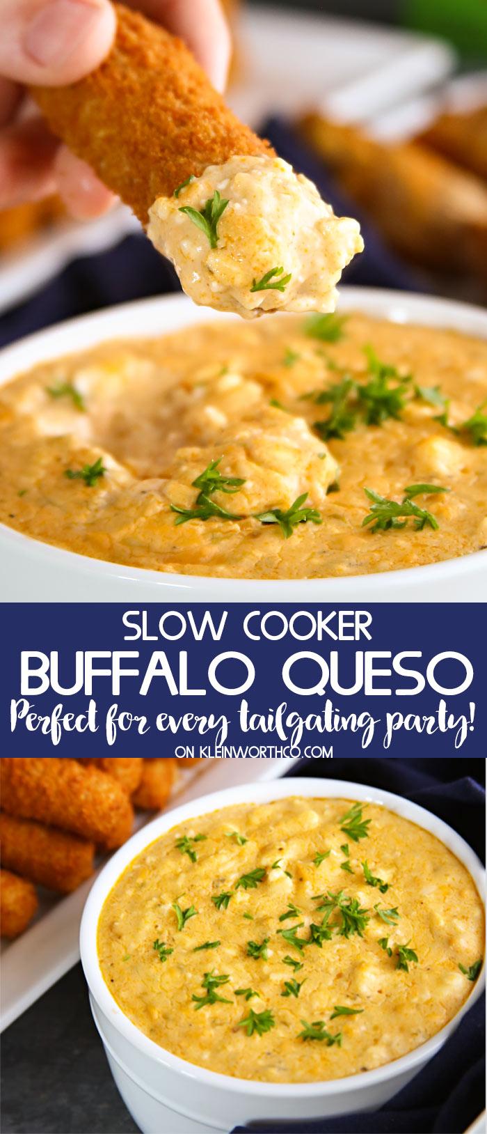Slow Cooker Buffalo Queso Dip Recipe