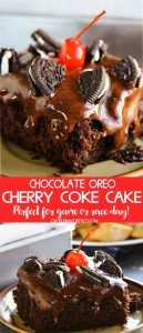 Chocolate Oreo Cherry Coke Cake Recipe