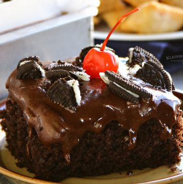 Chocolate Oreo Cherry Coke Cake