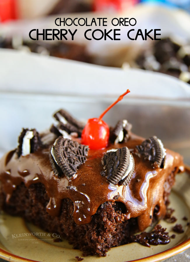 Chocolate Oreo Cherry Coke Cake