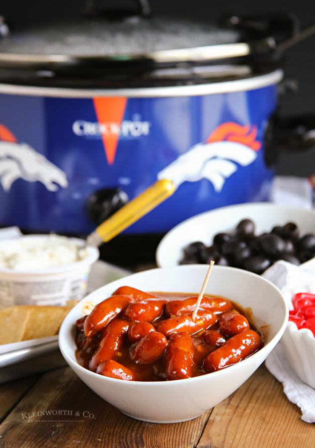 Easy Slow Cooker Garlic BBQ Smokies for game day