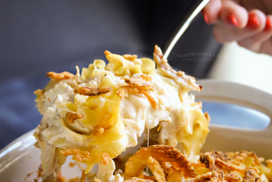 French Onion Chicken Noodle Casserole recipe