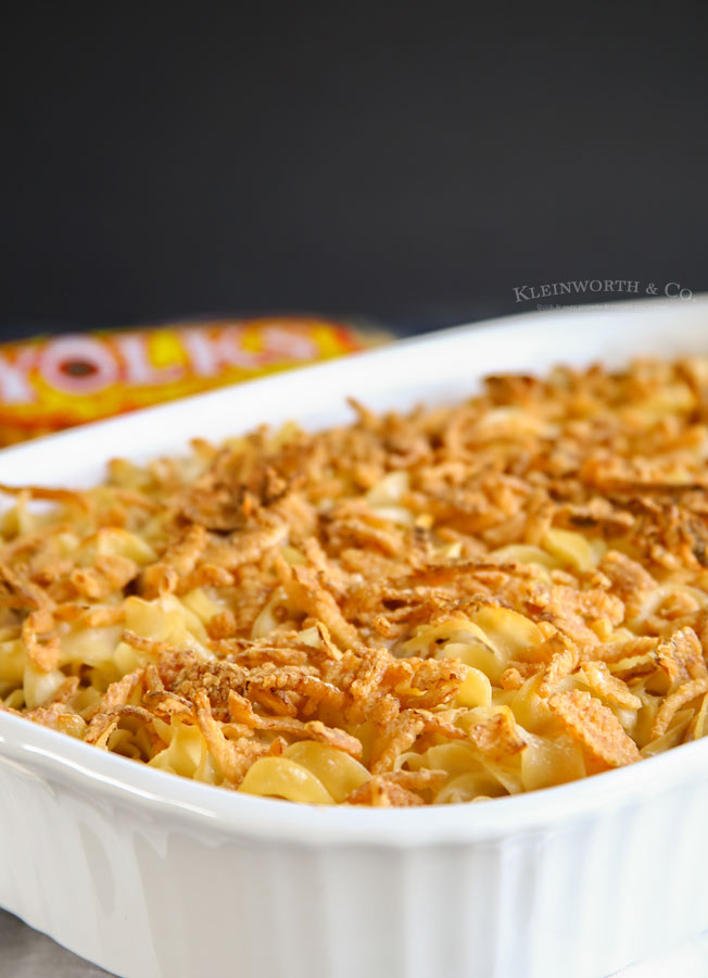 French Onion Chicken Noodle Casserole easy dinner recipe