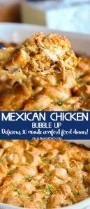 Mexican Chicken Bubble Up Casserole recipe