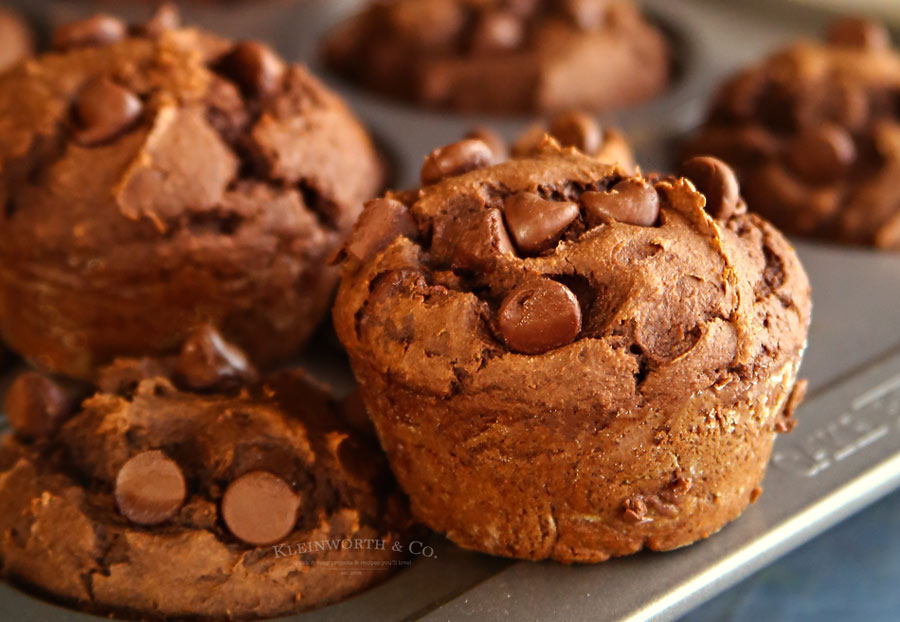 Peanut Butter Chocolate Pumpkin Muffins recipe
