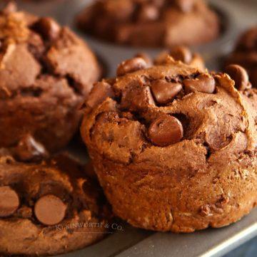 Peanut Butter Chocolate Pumpkin Muffins
