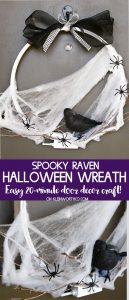 Spooky Raven Halloween Wreath craft idea