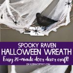 Spooky Raven Halloween Wreath craft idea