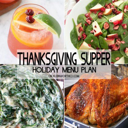Thanksgiving Supper Holiday Menu Plan