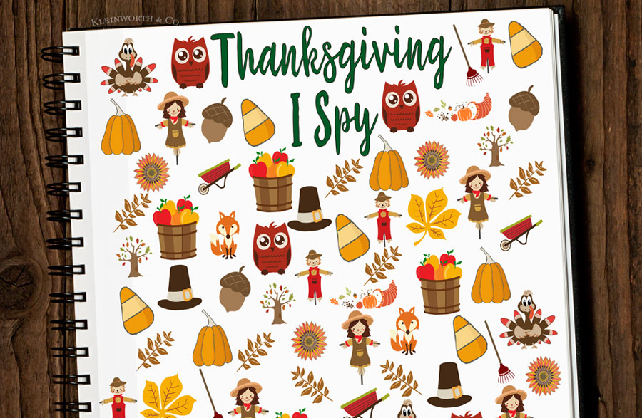 Free Thanksgiving I Spy Printable - thanksgiving activities