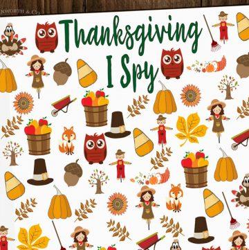 Free Thanksgiving I Spy Printable