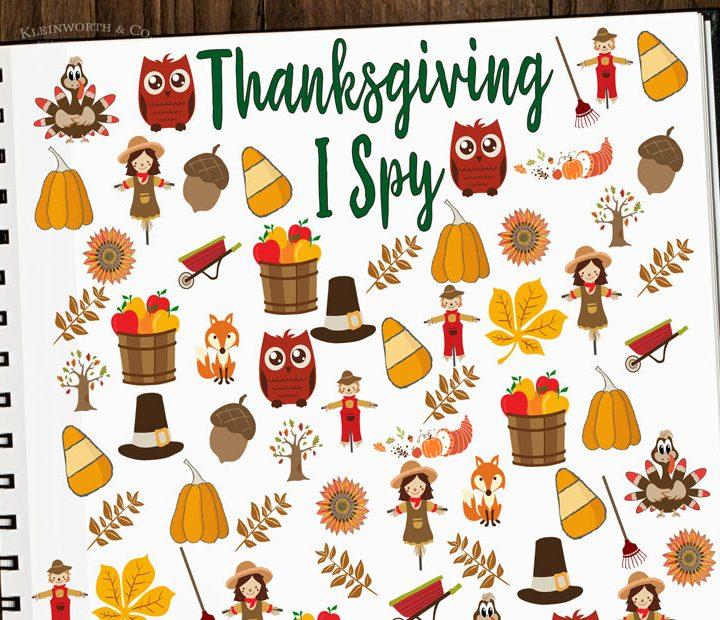 Free Thanksgiving I Spy Printable - thanksgiving activities