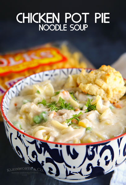 Chicken Pot Pie Noodle Soup