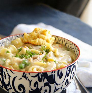 Dinner recipe- Chicken Pot Pie Noodle Soup