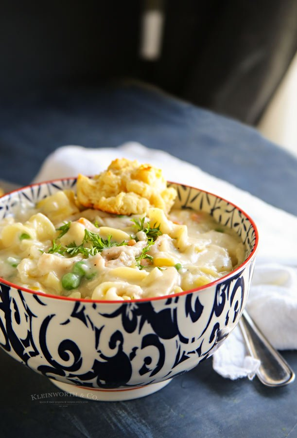 Dinner recipe- Chicken Pot Pie Noodle Soup