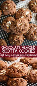 Chocolate Almond Ricotta Cookies Recipe