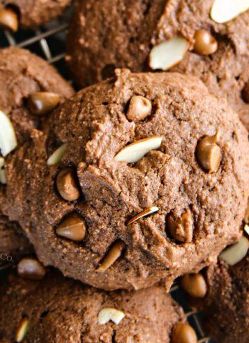 Easy Chocolate Almond Ricotta Cookies