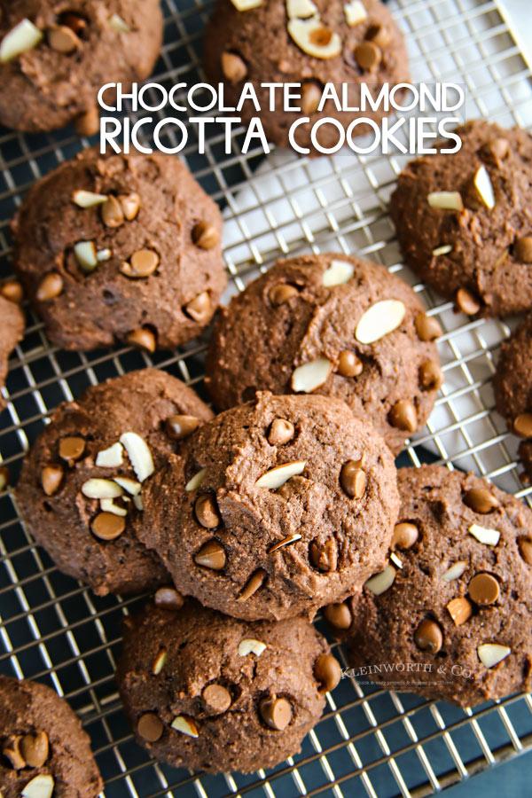 Chocolate Almond Ricotta Cookies