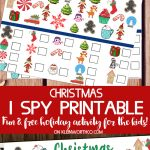 Free Christmas I Spy Printable - fun game for the kids
