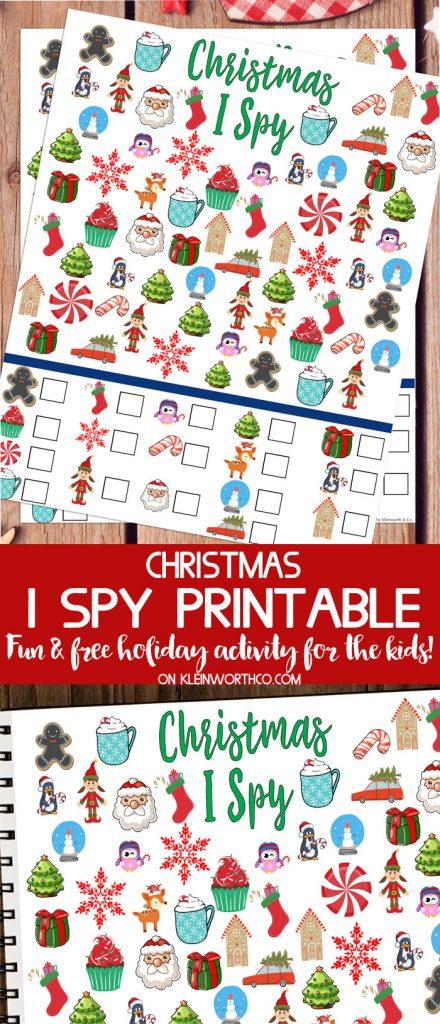 Free Christmas I Spy Printable - fun game for the kids