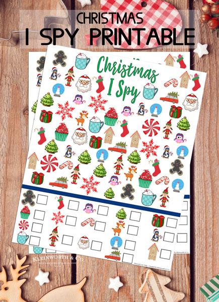 Free Christmas I Spy Printable