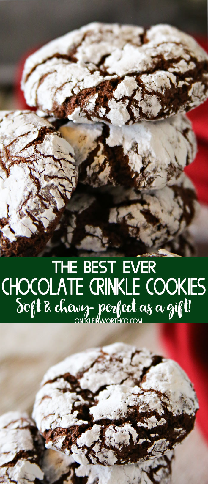 Easy Chocolate Crinkle Cookies Kleinworth Co