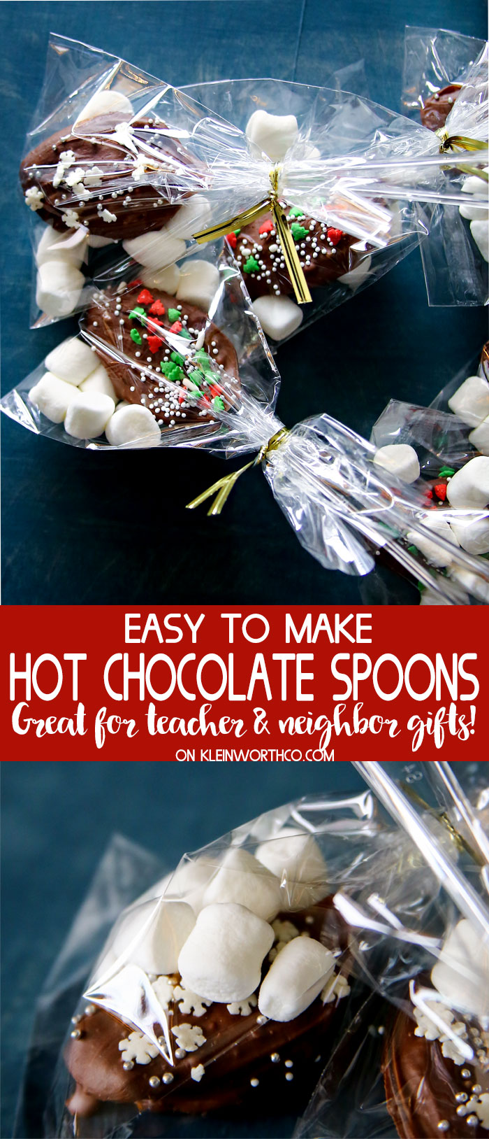 Fun Christmas Gifts - Easy Hot Chocolate Spoons