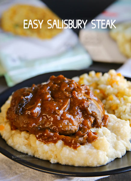 Easy Salisbury Steak Dinner