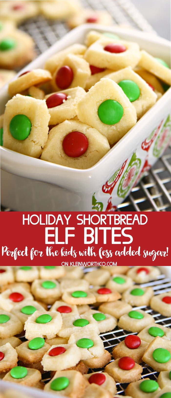Holiday Shortbread Elf Bites Kleinworth Co