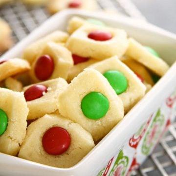 Holiday Shortbread Elf Bites