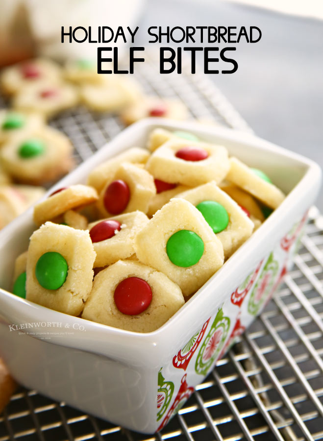 Holiday Shortbread Elf Bites