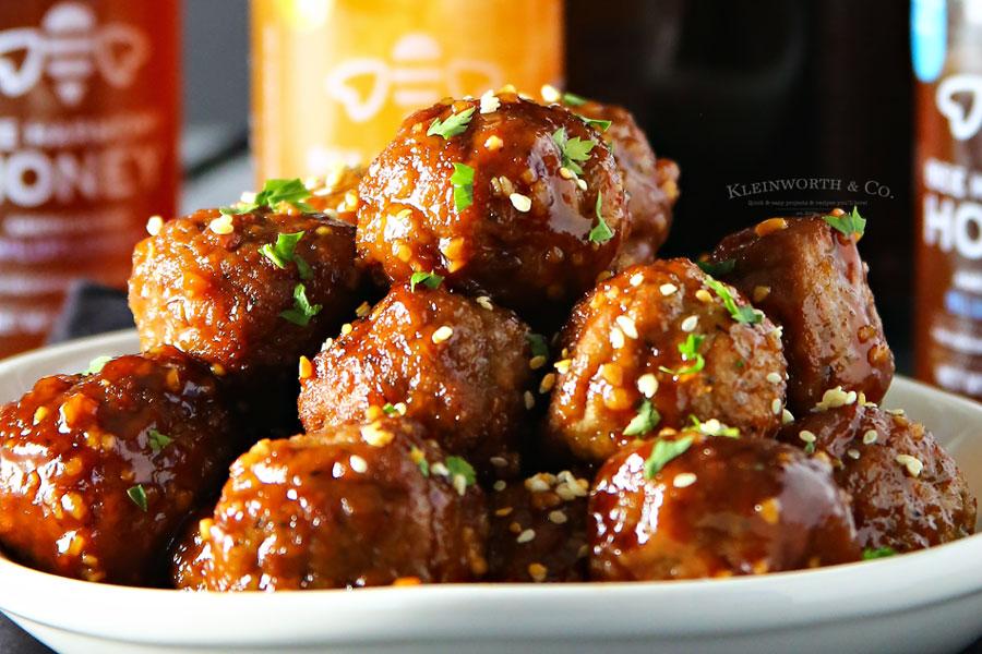 recipe for Slow Cooker Blueberry Honey Garlic Meatballs