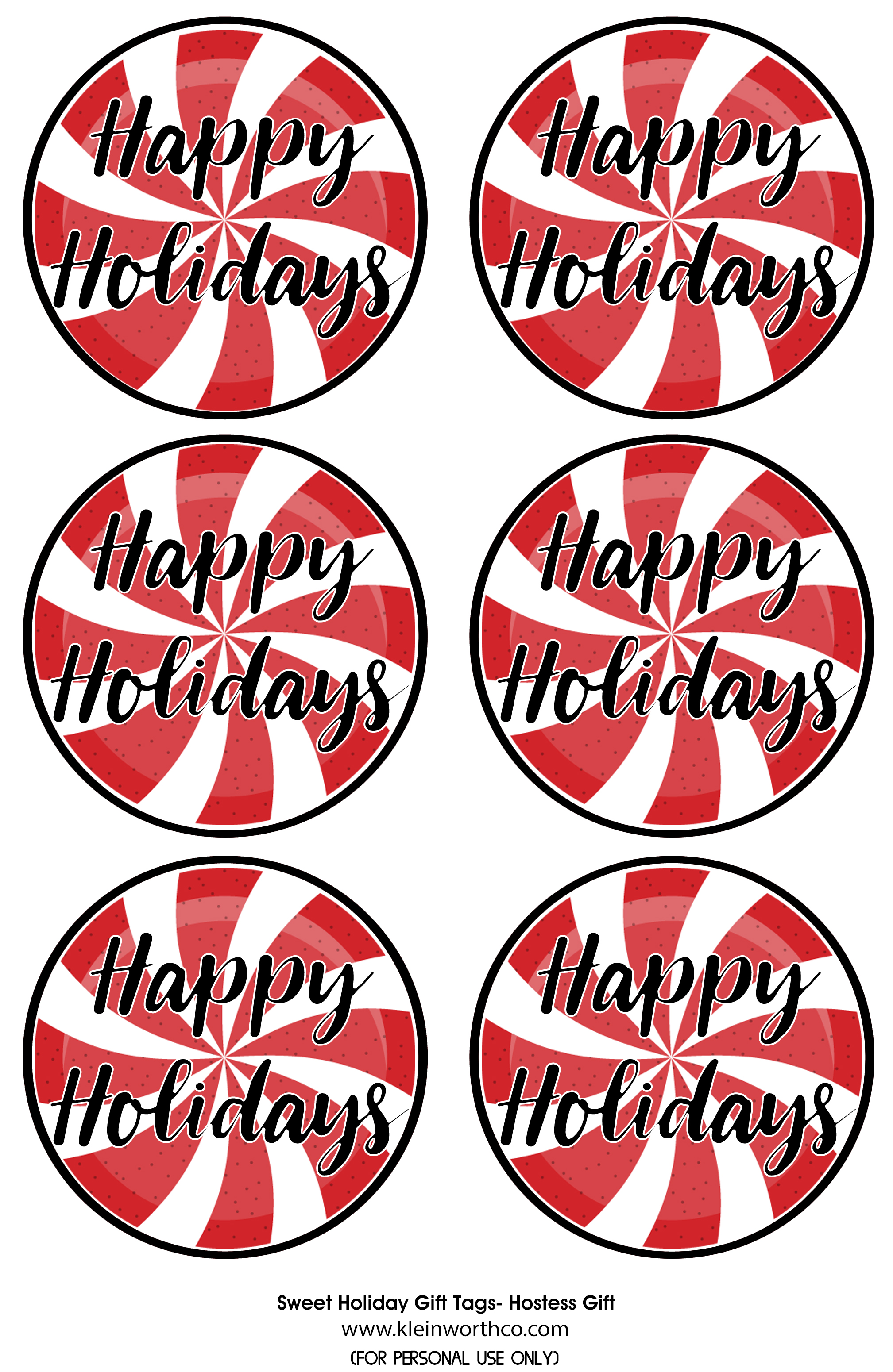 Sweet holiday gift tags free printable kleinworth co download free printable tags here negle Gallery