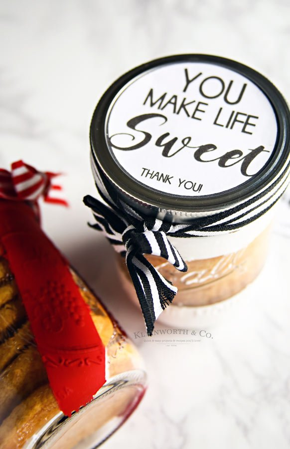 You Make Life Sweet - Free Printable Wide Mouth Jars