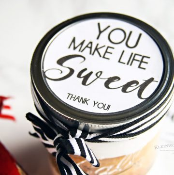 You Make Life Sweet - Free Printable Jar Label