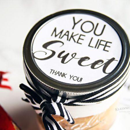 You Make Life Sweet – Free Printable Jar Label