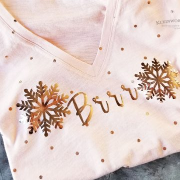 Brrr Snowflake Winter Shirt Cricut Project