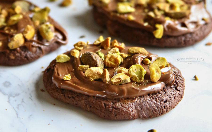 recipe chocolate nutella pistachio cookies