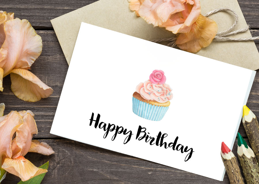 Cupcake Birthday Cards