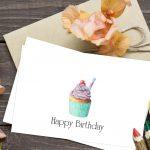 Cupcake Birthday Cards – Free Printable