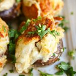 Garlic Parmesan Clam Stuffed Mushrooms