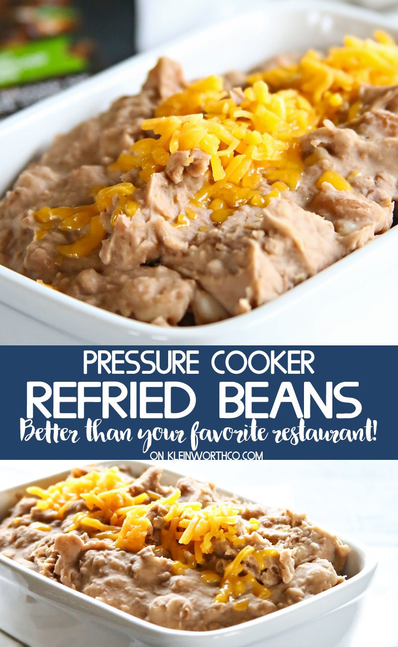 Pressure Cooker Refried Beans recipe