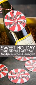 Sweet Holiday Gift Tags Free Printable