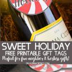 Sweet Holiday Gift Tags Free Printable
