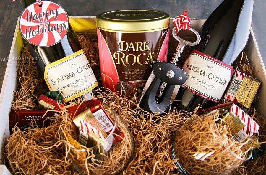 wine gift basket ideas