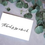 Black & White Thank You Cards - Free Printable