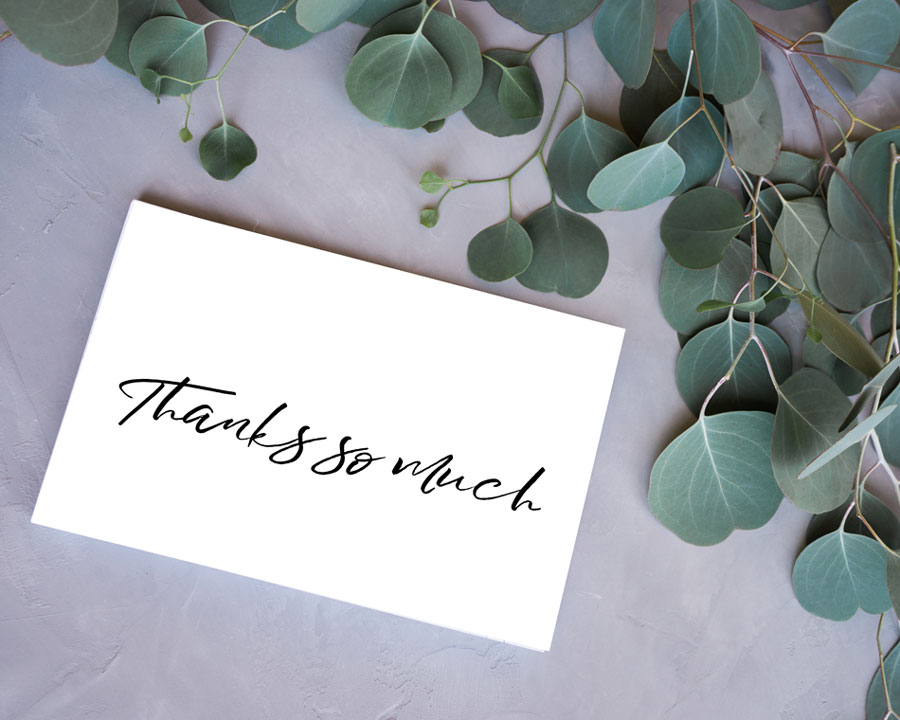 Black White Thank You Cards Free Printable Kleinworth Co